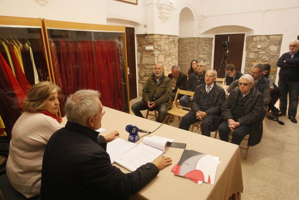 Presentació dels actes del 75é aniversari de les vestes dels Manaies