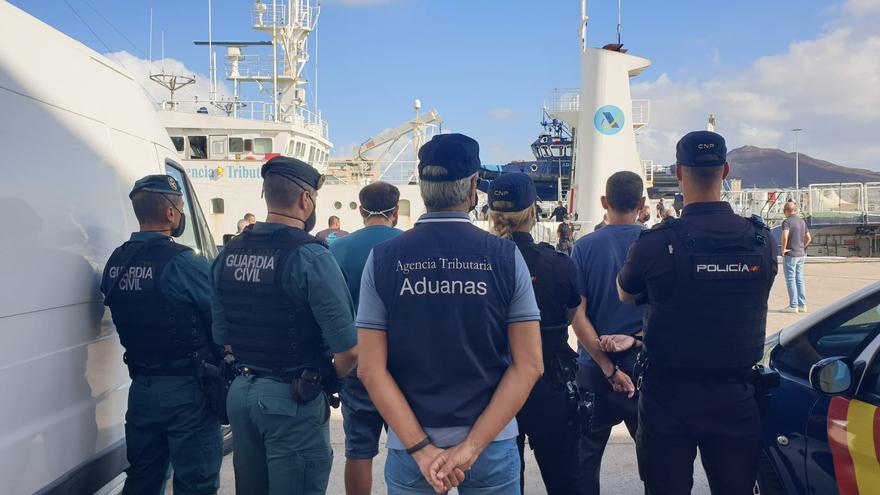 Intervenido un velero con 1.200 kilos de cocaína