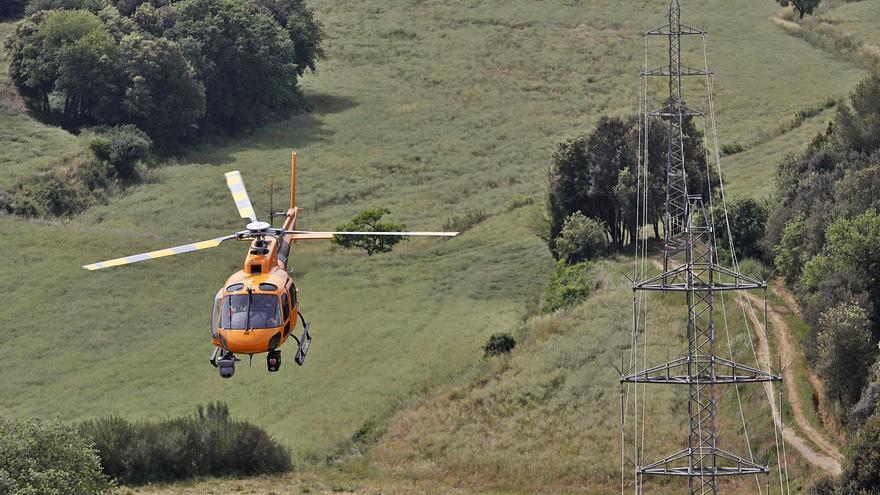 Drons, làser i helicòpters per prevenir incendis en línies elèctriques