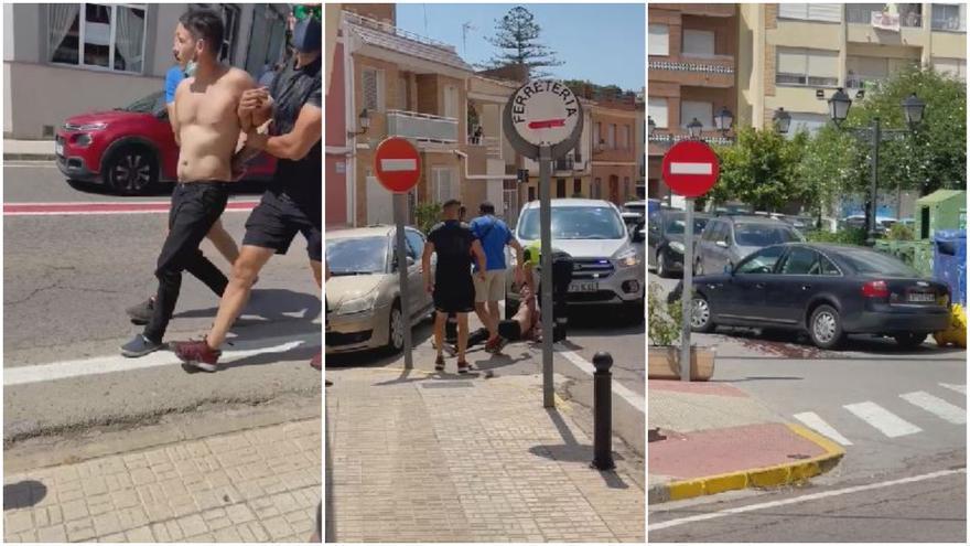 Varios vecinos permiten dos arrestos en Gilet tras una persecución
