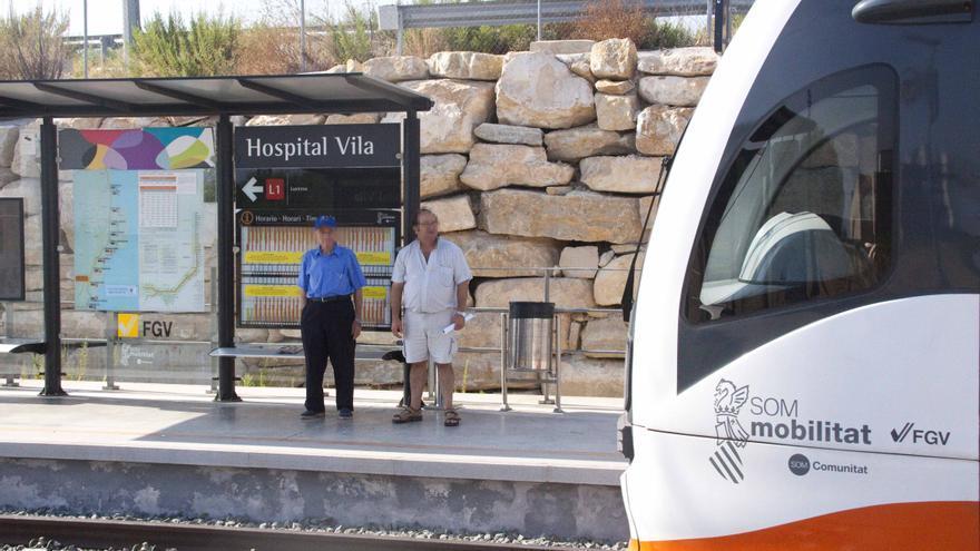 FGV modifica la parada de los trenes y el acceso a los andenes del Hospital de La Vila