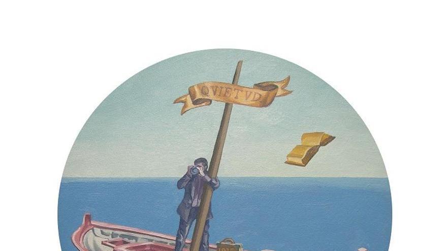 Exposición Mástil, primer poemario de Antonio Oliver