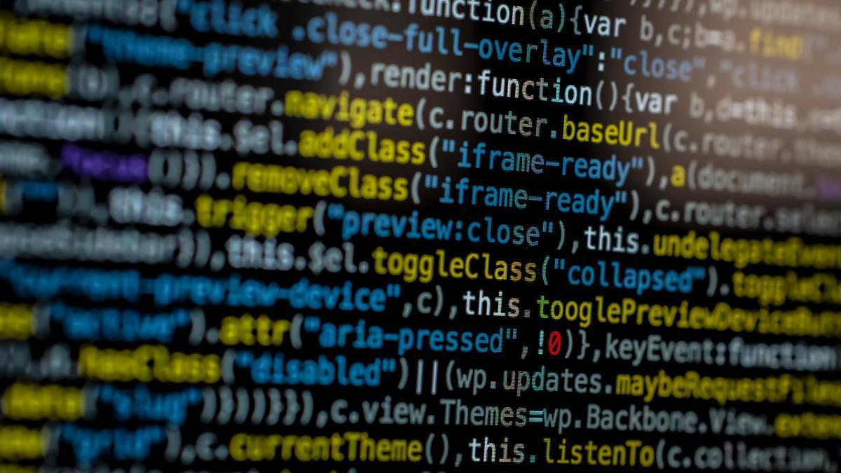Código html en una pantalla de ordenador.