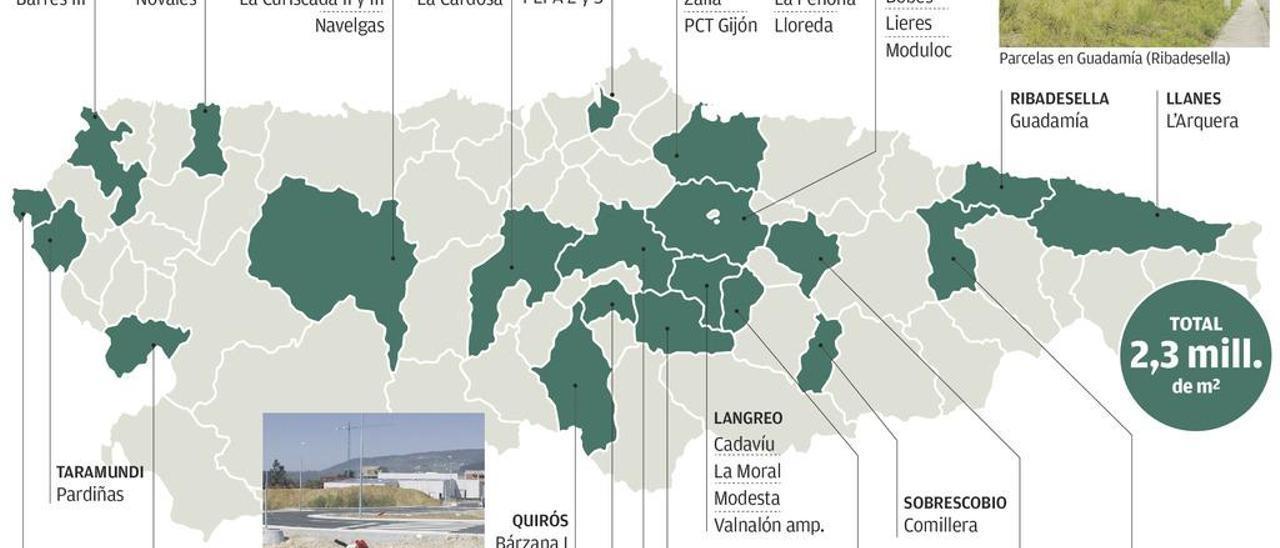 El suelo industrial en Asturias es un 25% más caro que en Galicia y Castilla y León