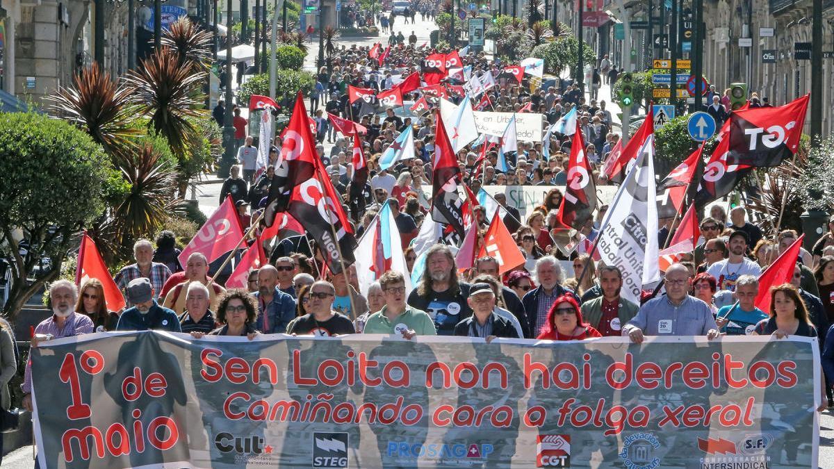Mnaifestación de la CUT, el 1 de mayo pasado // Marta G. Brea