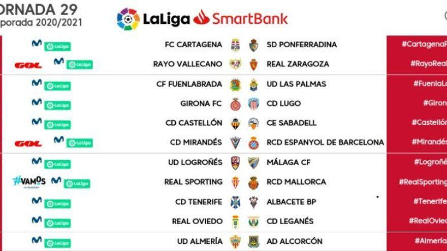 El Girona-Lugo, fixat pel dissabte 13 de març