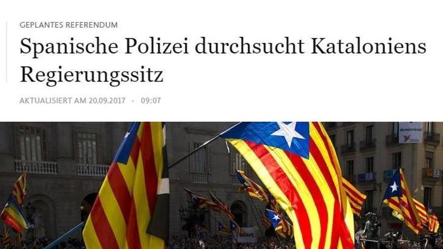 La premsa internacional es fa ressò de les detencions