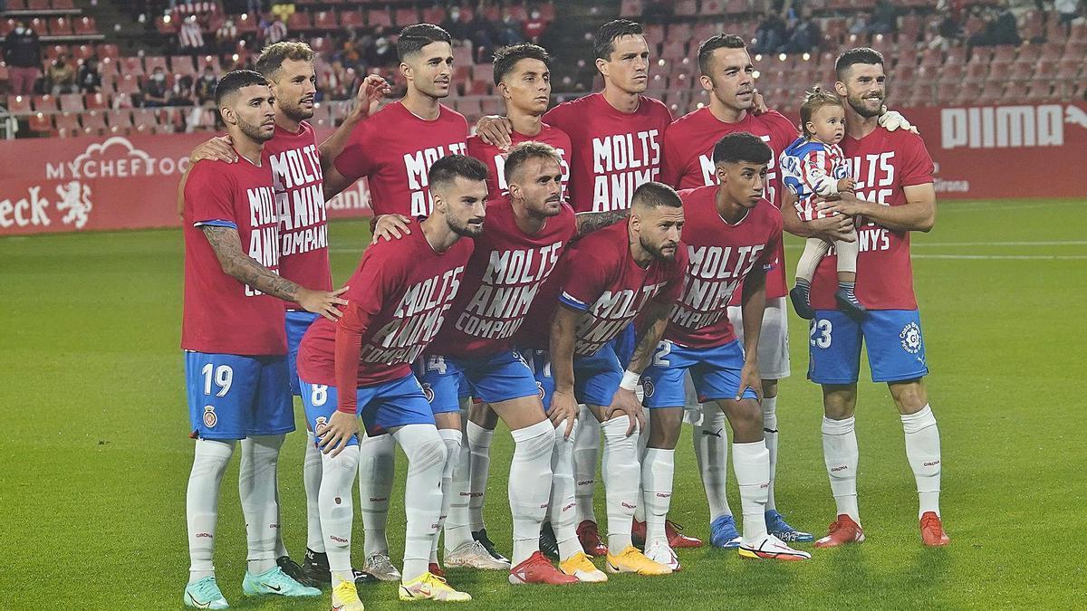 L'onze titular del Girona contra l'Sporting de Gijón d'ara fa dues jornades.  | MARC MARTÍ