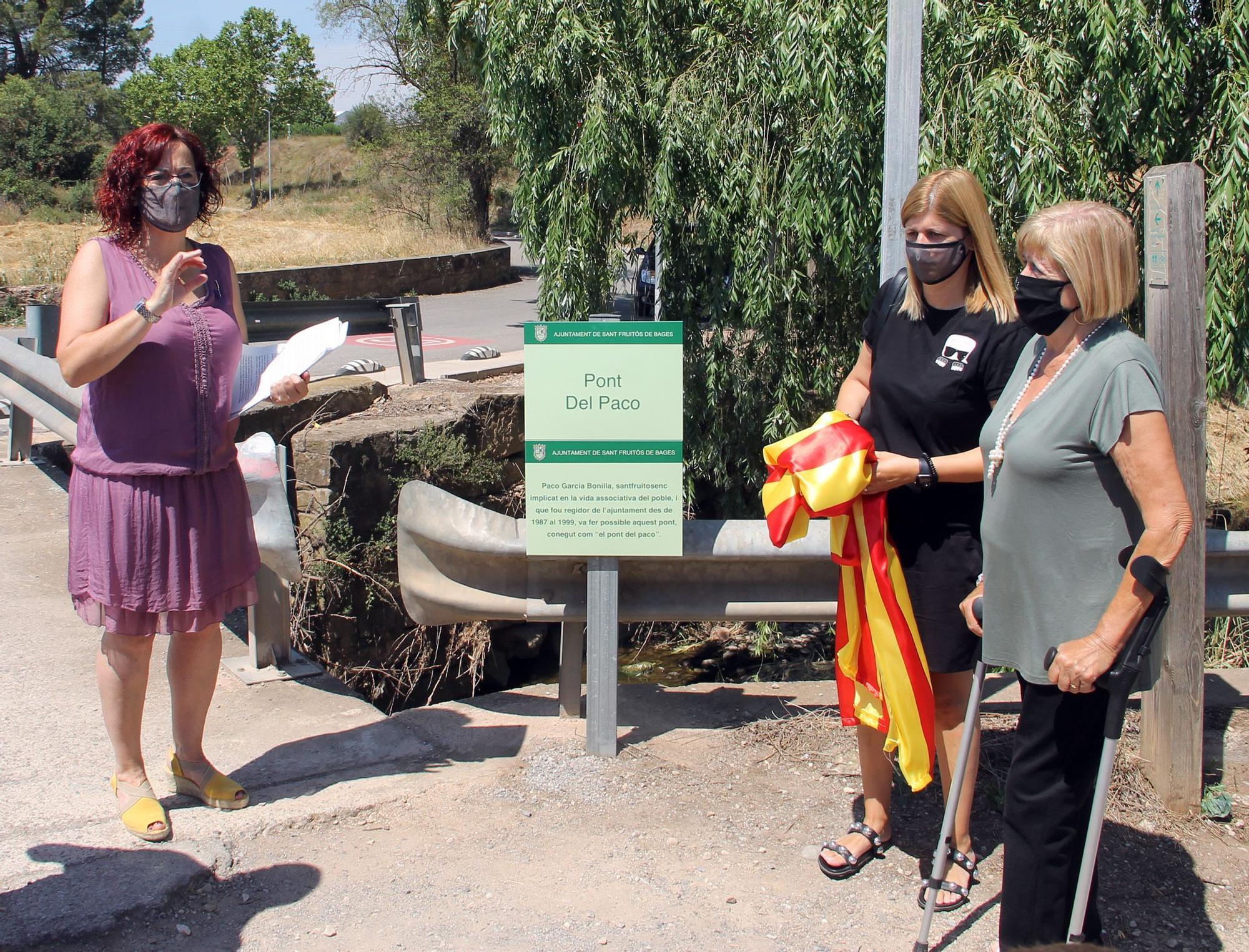 Inauguració de la placa del Pont del Paco