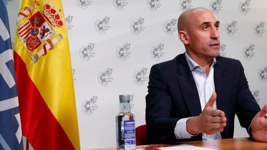 El presidente de la RFEF, Luis Rubiales, positivo en Covid-19