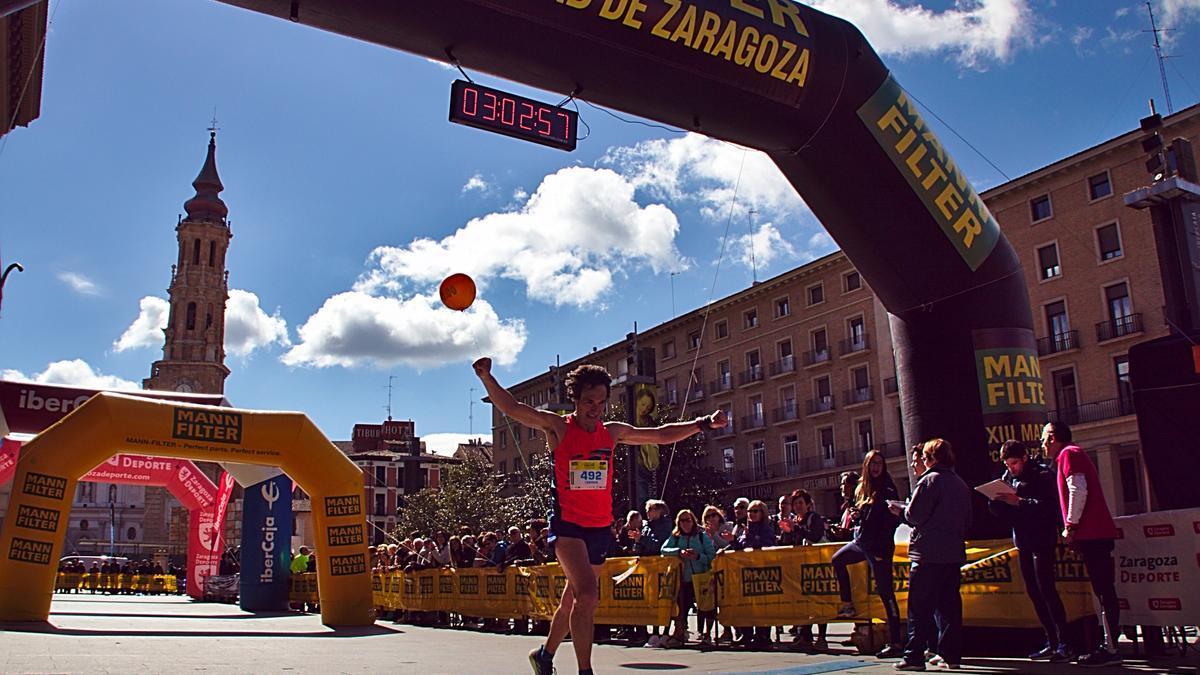 Imagen de uno de los últimos maratones de Zaragoza.
