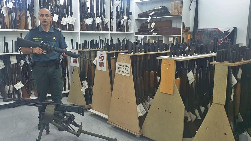 En Vigo y su área hay 7.000 armas de fuego que se reparten en 4.000 licencias oficiales