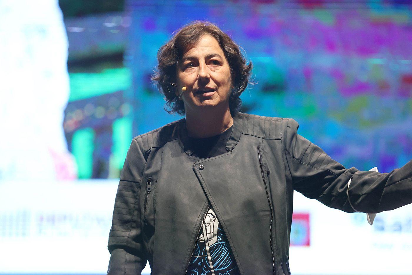 Marian Moreno, en un momento de su charla.