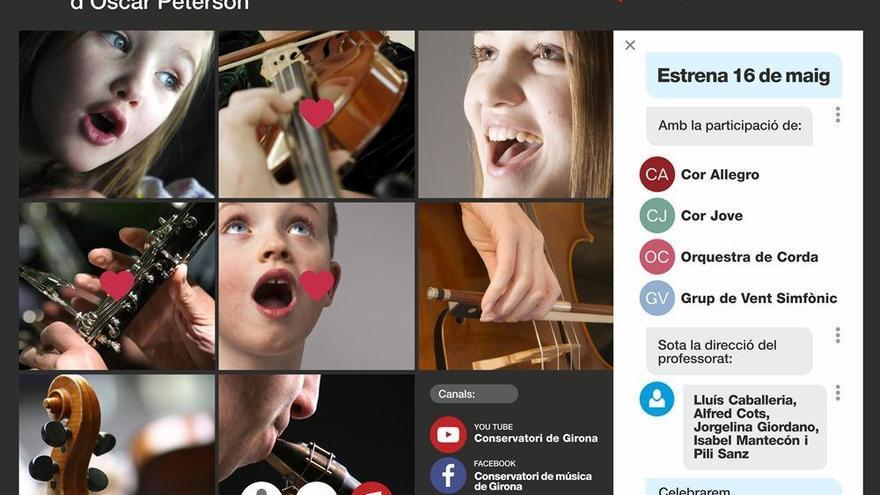 Cent alumnes del Conservatori de Girona presenten la cançó «Hymn to Freedom»