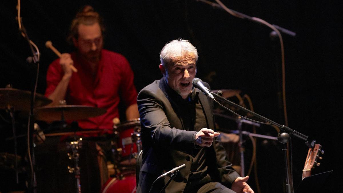 El intérprete gandiense, durante un concierto.