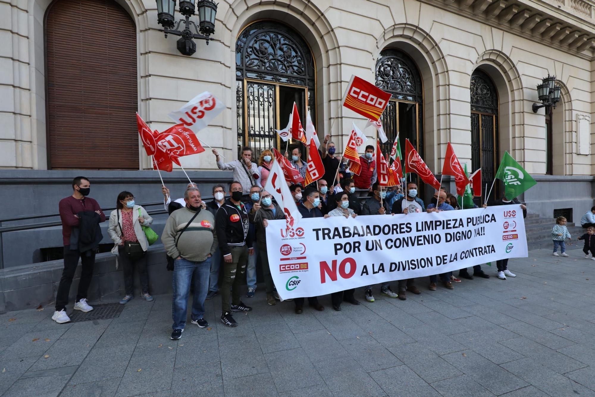 Tarde de protestas en Zaragoza