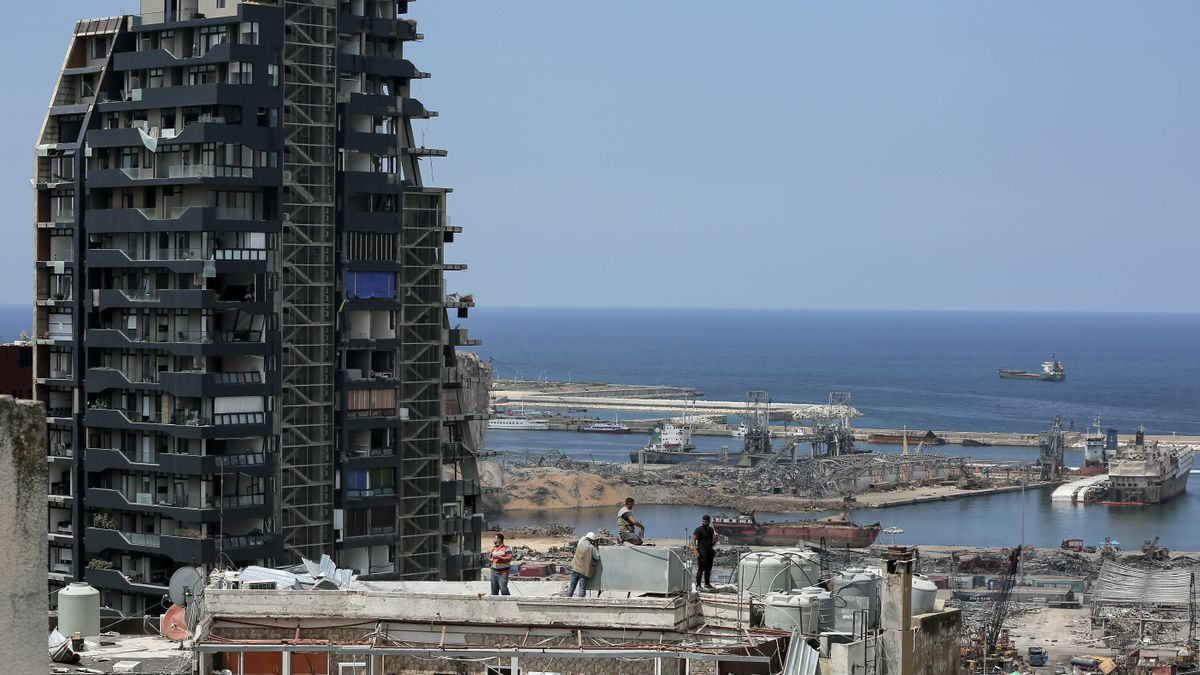 Daños materiales causados por las explosiones de Beirut.