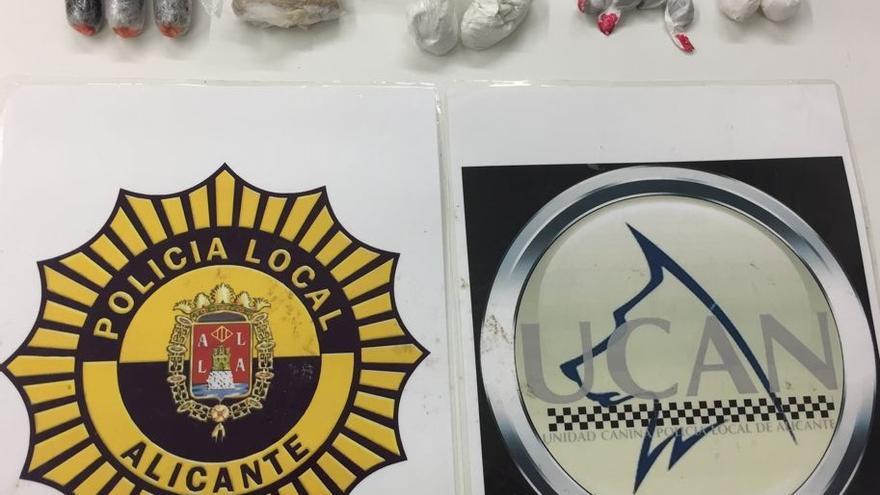 Detenido un recluso en la estación de autobuses de Alicante por llevar droga a la cárcel