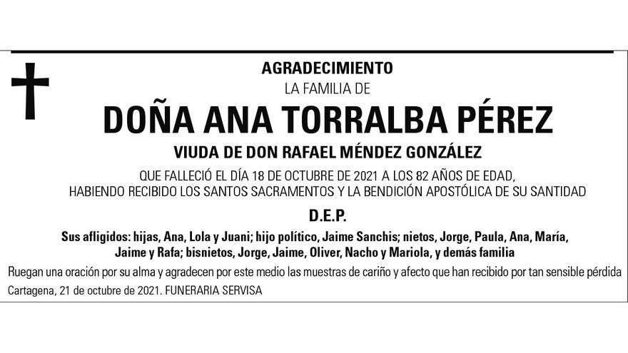 Dª Ana Torralba Pérez