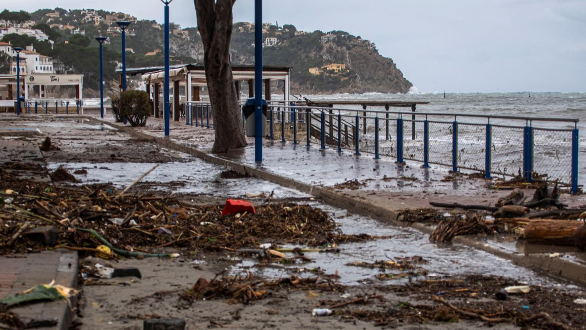 La borrasca Bella provoca grandes destrozos en el Port d'Andratx