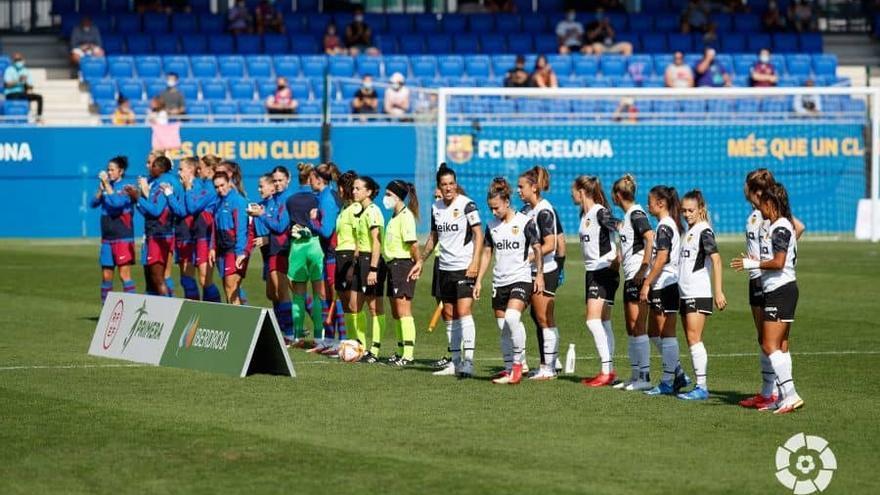 Duro correctivo del Barça al Valencia Femenino (8-0)