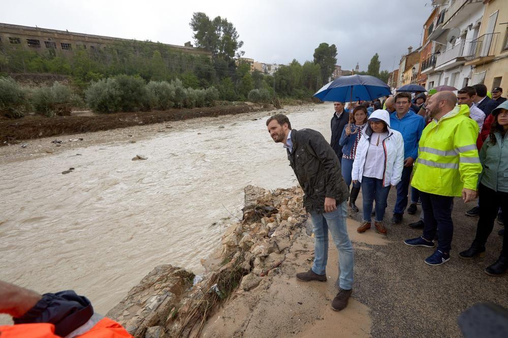 Visita de Pablo Casado a las zonas afectadas por ...