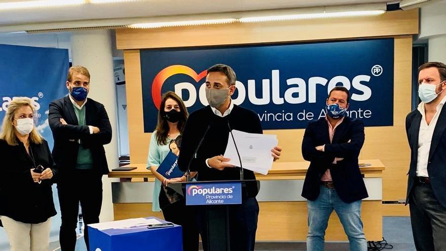 """El PP tacha de """"maltrato a los alicantinos"""" las cuentas del Ejecutivo para la provincia"""