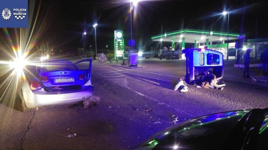 Cinco heridos en accidente entre El Esparragal y Cabezo de Torres