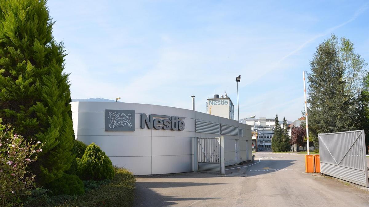 Fábrica de Nestlé en Cantrabria.