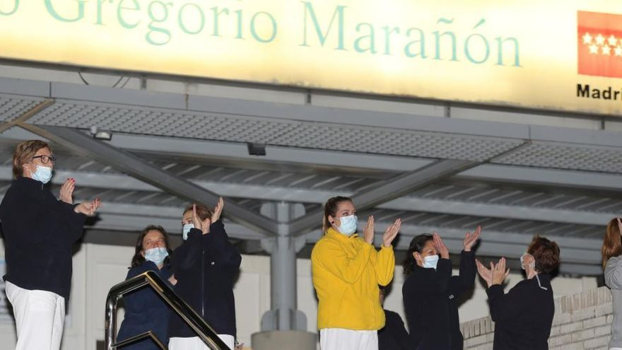 El Ejército instala un hospital de campaña en el hospital Gregorio Marañón de Madrid