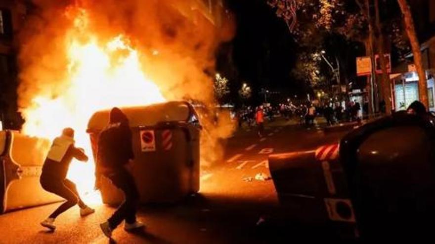 Detenidas 13 personas por las manifestaciones anti covid del 30 de octubre en Barcelona