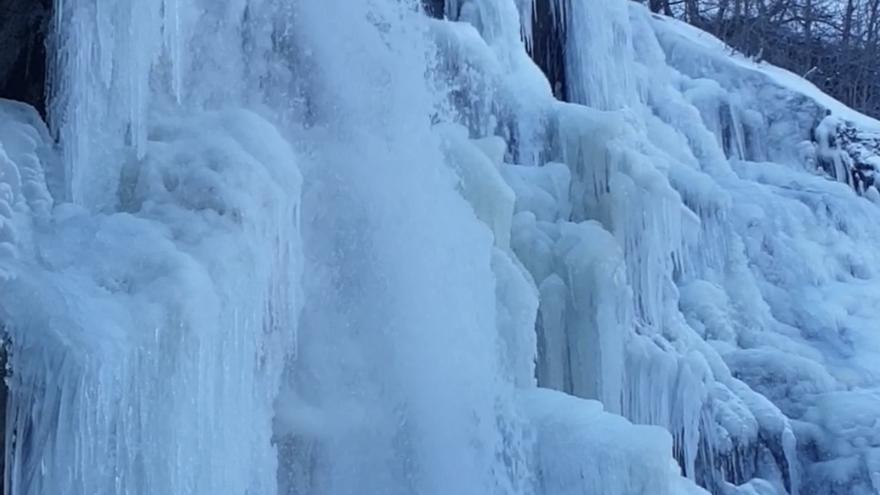 No es Frozen, sino la cascada de Sotillo en Sanabria