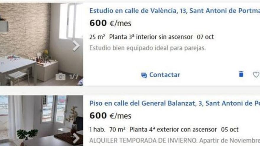 Vivienda en Ibiza: el piso imposible de 600 euros