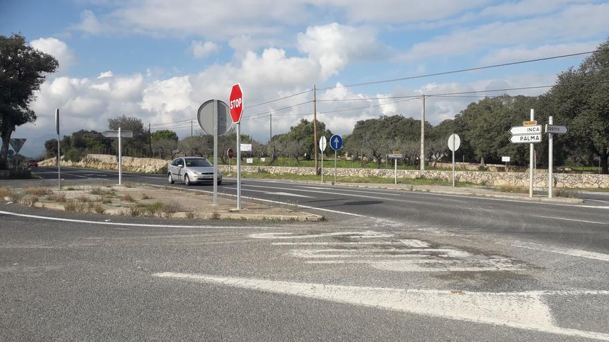 El Consell contratará las obras para construir dos rotondas en la carretera Inca-Sineu
