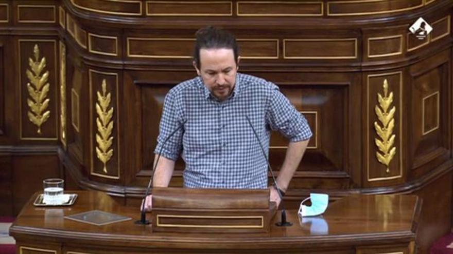 """Iglesias s'acomiada del Congrés homenatjant les """"generacions d'espanyols que van lluitar contra el feixisme"""""""