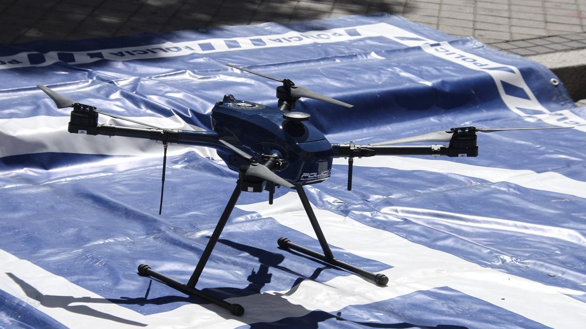 Un dron de la Policía Municipal de Madrid.