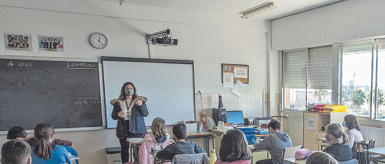 Escolares en el aula de un colegio de primaria.