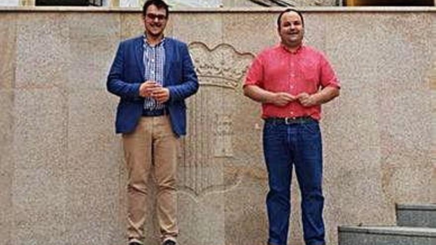 Los alcaldes de Toro y Magallón, Tomás del Bien y Víctor Chueca.