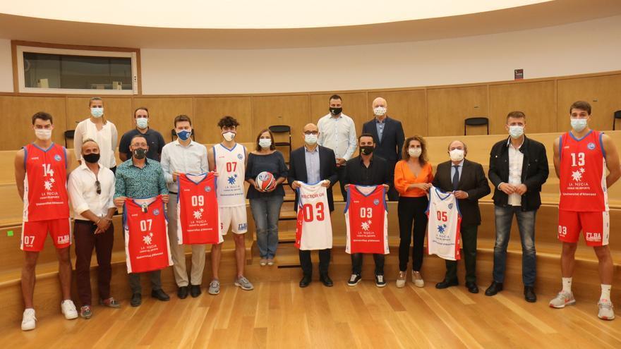 La UA presenta el equipo La Nucía-Universidad de Alicante-Fundación Lucentum Baloncesto