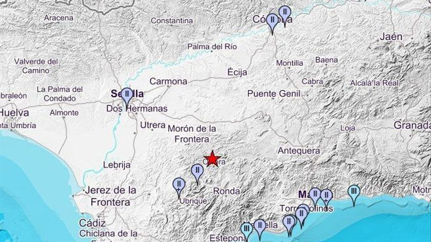 Sentido en Córdoba un terremoto de magnitud 4,7 con epicentro en Pruna (Sevilla)