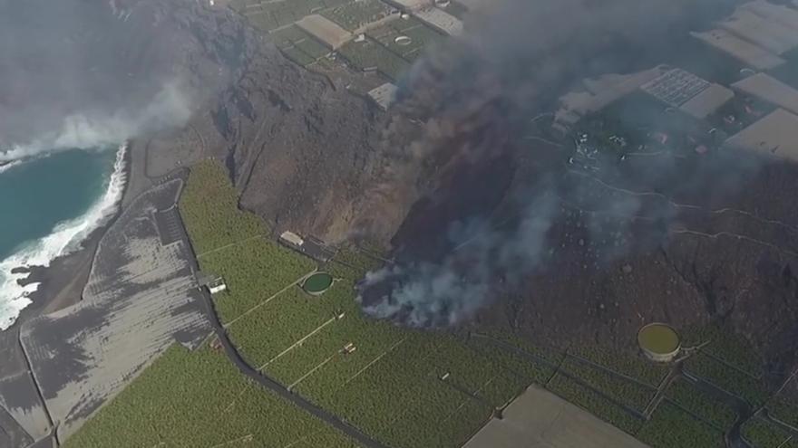 Un poblado prehispánico, amenazado por el volcán en La Palma