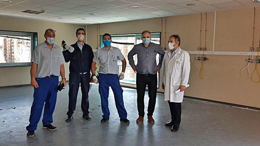 El hospital Virgen de la Concha de Zamora adapta nuevos espacios para enfermos de COVID