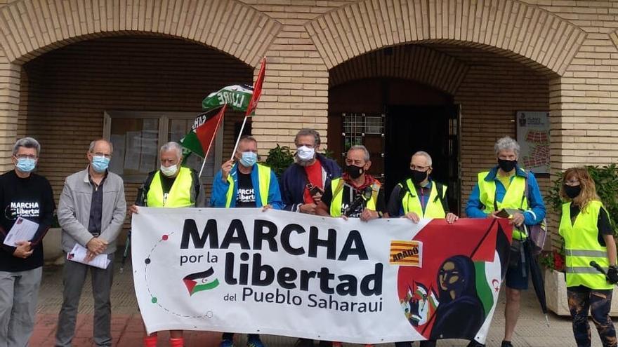 La marcha por el Sáhara entra en Navarra desde Aragón