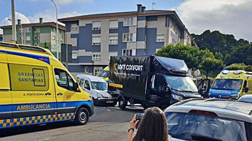 Retenciones en Monte Porreiro por la colisión de dos vehículos