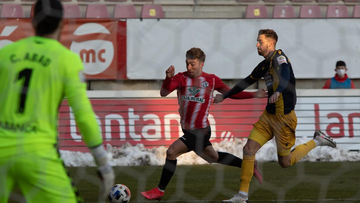 Imagen del duelo entre Zamora CF y Deportivo de la Coruña jugado en el Ruta de la Plata