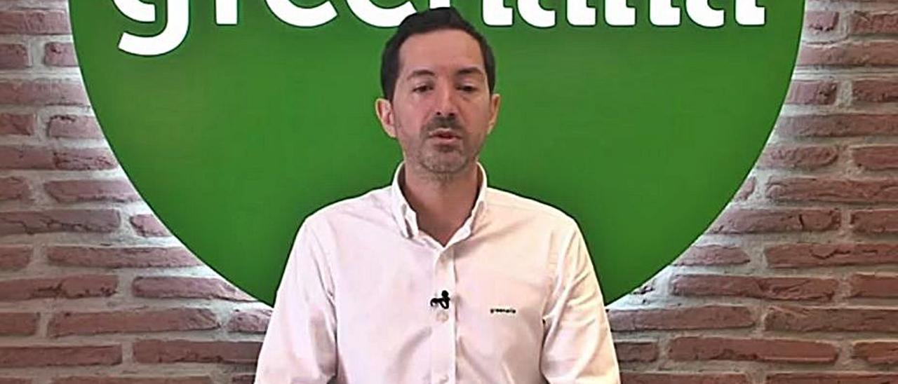 Manuel García, ayer, durante la presentación de las cuentas.   | // FDV