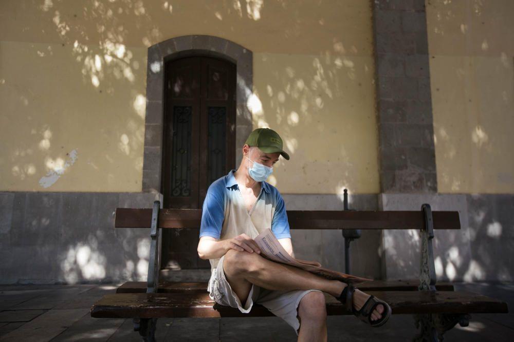 Uso de la mascarilla en Santa Cruz de Tenerife