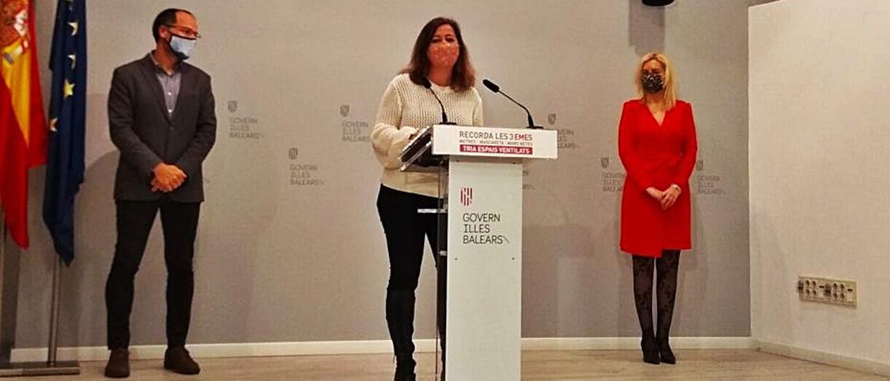 Francina Armengol, ayer en rueda de prensa.