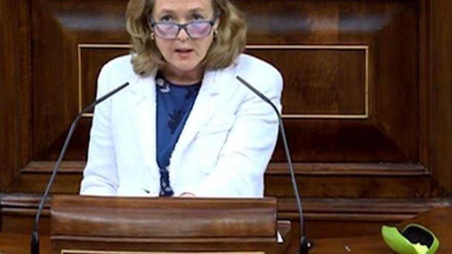 "Nadia Calviño acusa a  Ana Oramas de usar ""expresiones hiperbólicas"""