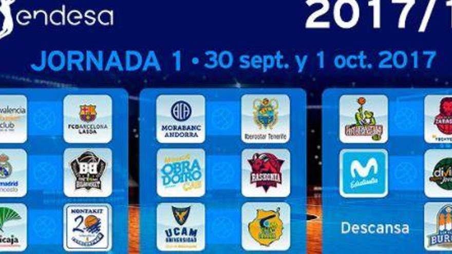 Valencia-Barça i Madrid-Bilbao, els plats forts de la primera jornada de l'ACB